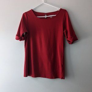 Company Ellen Tracey Cuffed Top Red Size Large